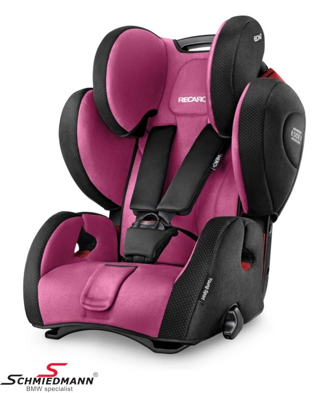 Child seat original Recaro -Young Sport Hero- Pink, 9-36kg. (without Isofix)
