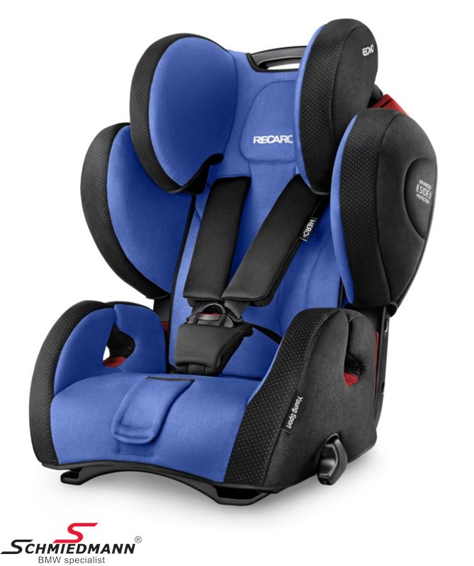 Child seat original Recaro -Young Sport Hero- Saphir, 9-36kg. (without Isofix)