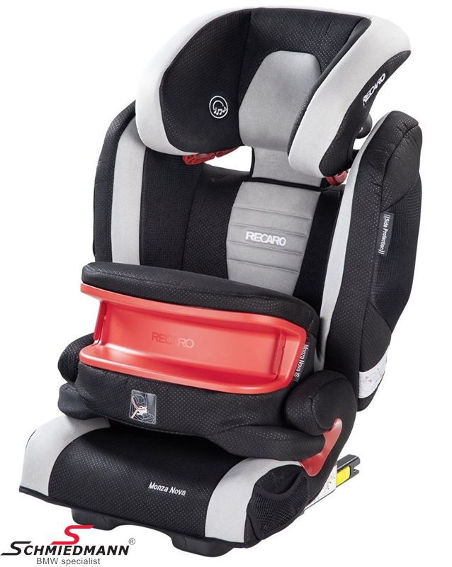 Child seat original Recaro -Monza Nova IS- Graphite, 9-36kg. incl. impact shield (with Isofix)