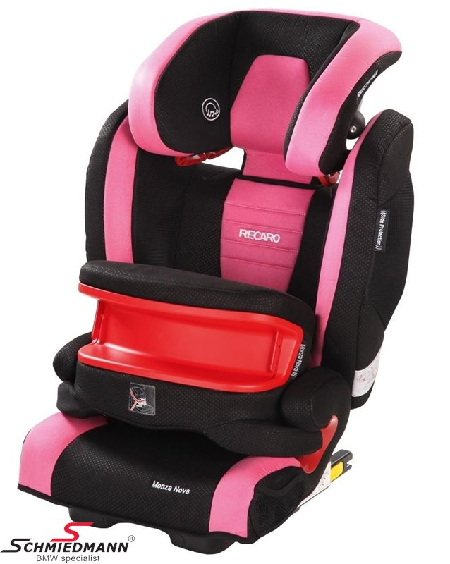 Child seat original Recaro -Monza Nova IS- Pink, 9-36kg. incl. impact shield (with Isofix)