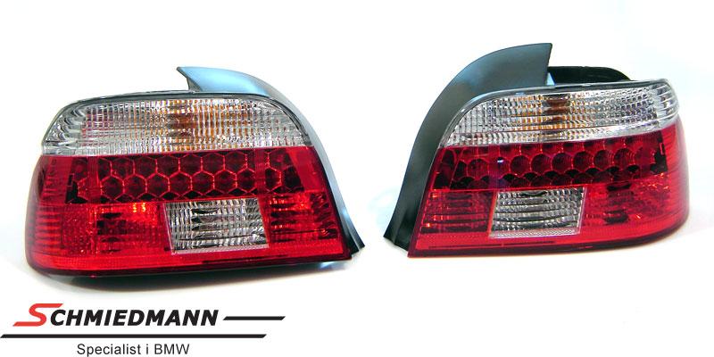 Rückleuchten LED Crystal rot/weiss