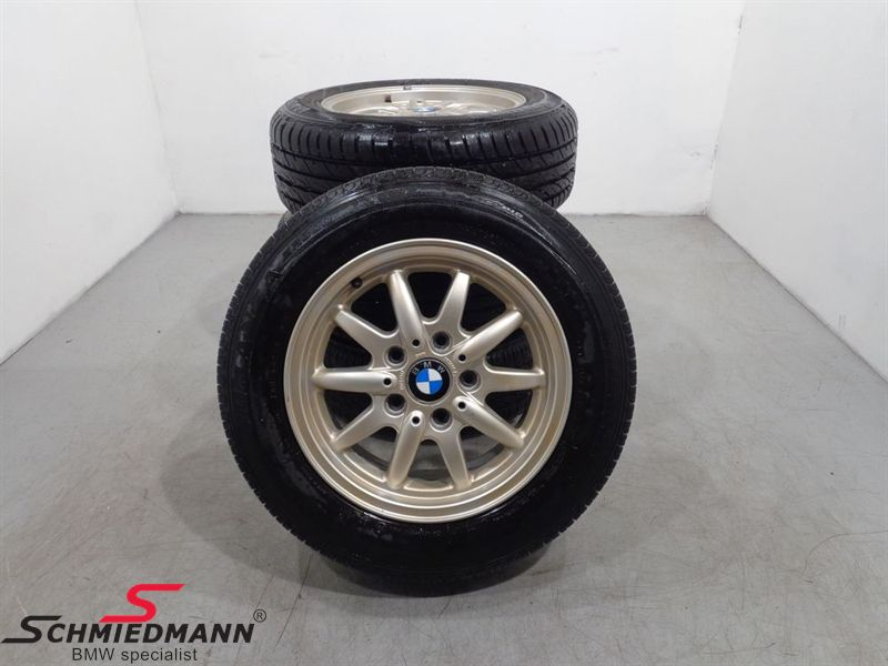 "15"" org. BMW Aluwheels with tyres ""Sportspeichen II Styl 27"""