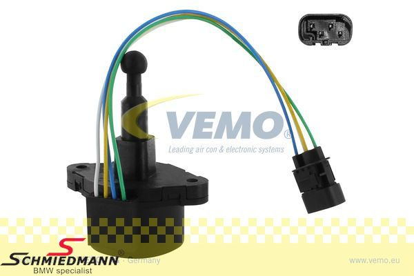 Headlight adjustment motor - for the lightwidth regulation