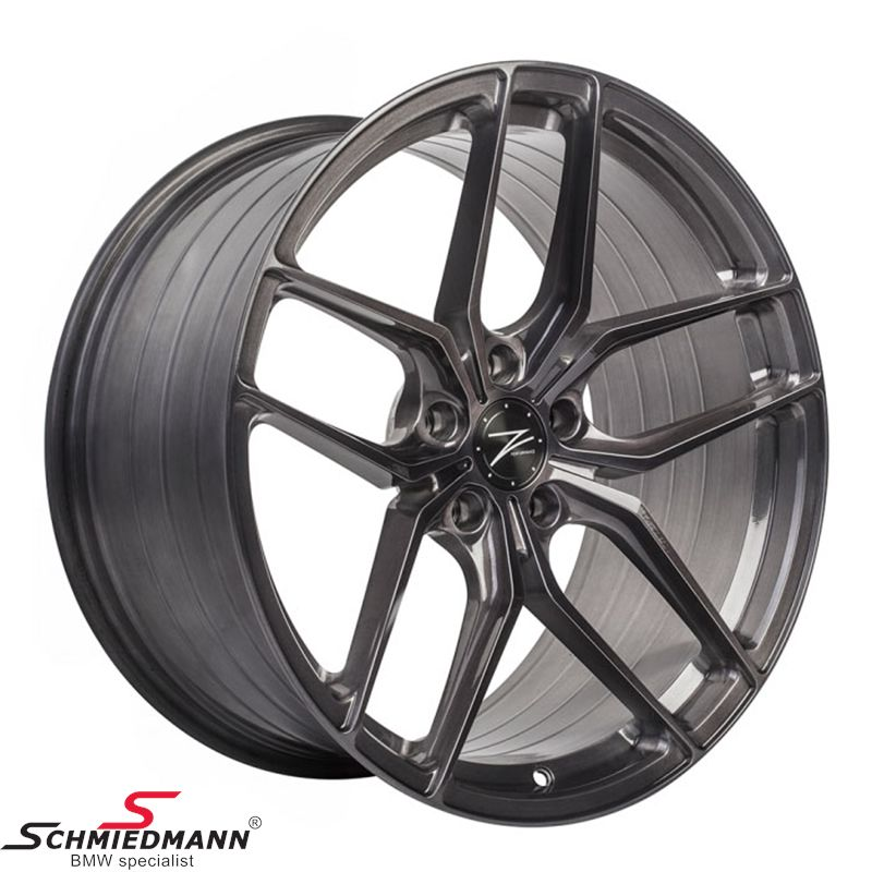 "19"" Z-Performance FlowForged (smedet) -Type ZP2.1- fælg 9,5X19 ET40, Liquid Metal (passer kun bag)"