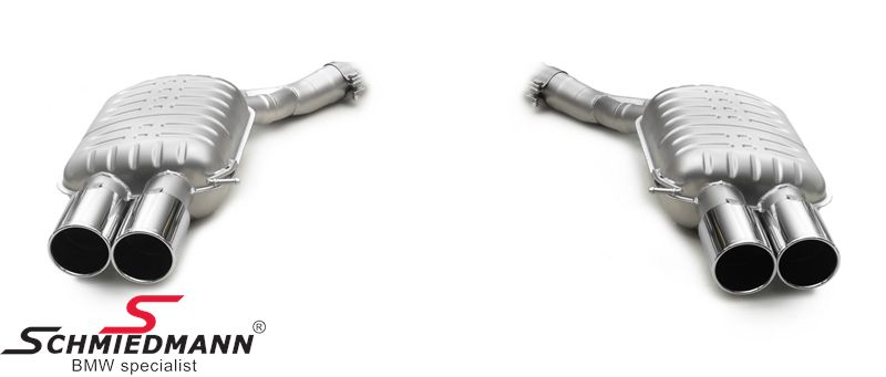 Sportovní nerezové koncové tlumice výfuku Eisenmann RV -Race Version s kulatými koncovkami 4X90MM