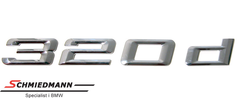 """Emblem trunk lid """"320D"""""""