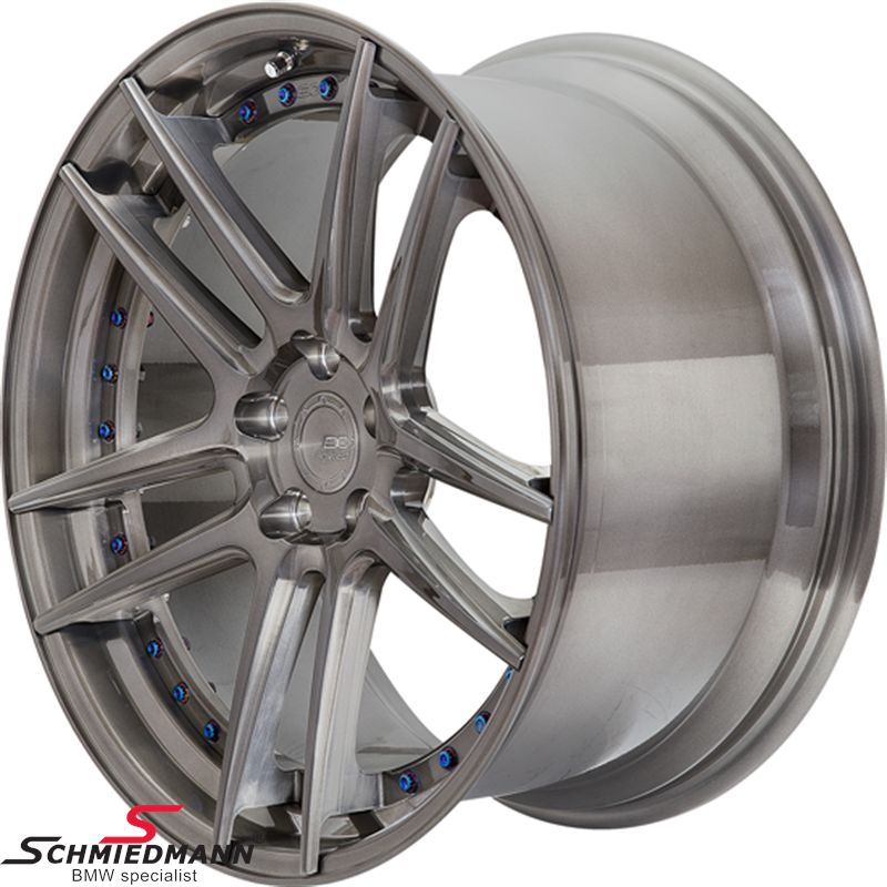 "20"" BC Forged Wheels -HCS01S- forged 2 piece rim 11x20 ET35, brushed black tint (you can choose color) (Fits only rear)"