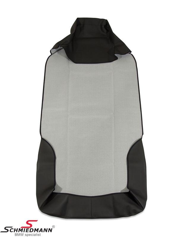 Sædeskånebetræk gråt universal, også til modeller med sædeairbag, emitteret læder - flot kvalitet