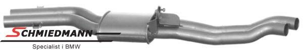 Középső kipufogódob M54 (mindkét oldal duplacsöves)