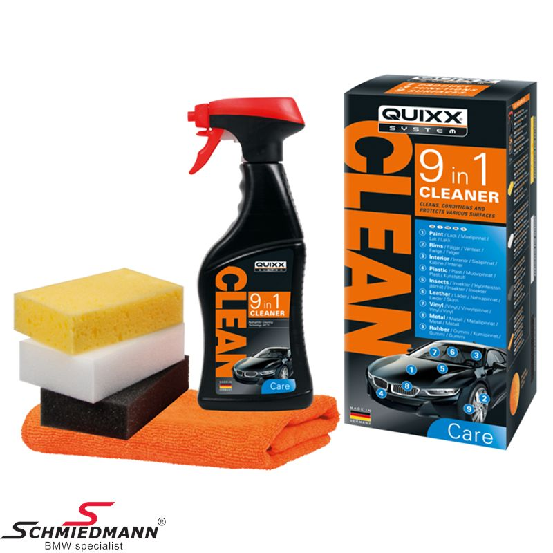 Quixx – 9-in-1 Cleaner: In-depth cleaning  for multiple car surfaces!