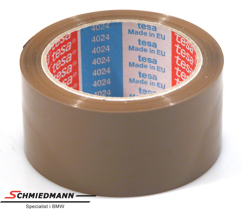 Brun pakketape 50MM bred Tesa 4024