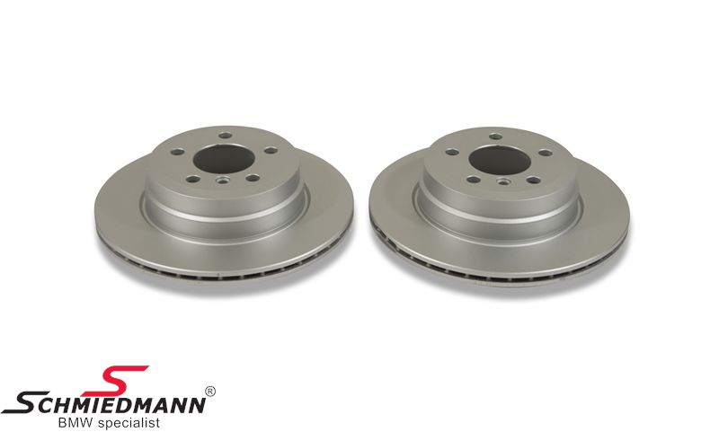 Brake discs rear ventilated 320X20MM, -original Hella Germany-
