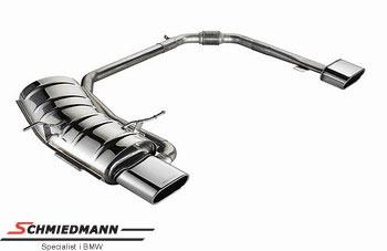 Side by side Eisenmann sportsudstødning 2 X 160X80 flad ovale rørhaler