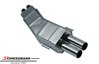 Eisenmann sport rear silencer 2XØ83MM