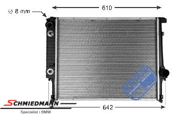 Radiator A=550MM with transmission oil cooler