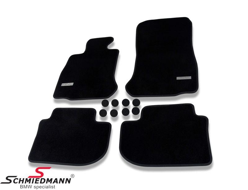 Schmiedmann -Exclusive- mustat lattiamatot eteen/taakse - erikoispaksut