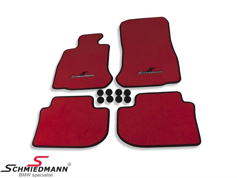 Schmiedmann -Sport EVO- punaiset lattiamatot eteen ja taakse