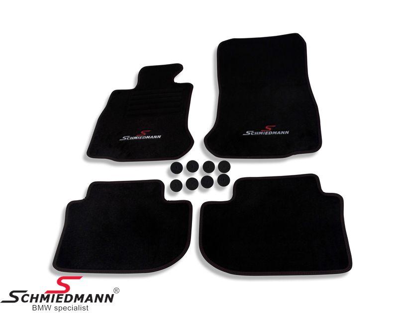 Schmiedmann -Sport EVO- mustat lattiamatot eteen ja taakse