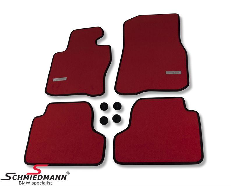 Fussmatten Satz vorne/hinten original Schmiedmann -Exclusive Rot- extra dicke Qualität
