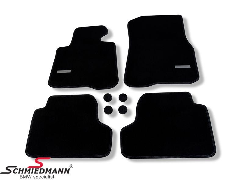 Fussmatten vorne / hinten original Schmied -Exklusiv- schwarz extra dick