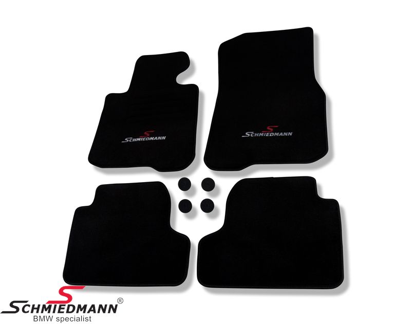 Fussmattensatz original Schmiedmann -Sport Edition- schwarz