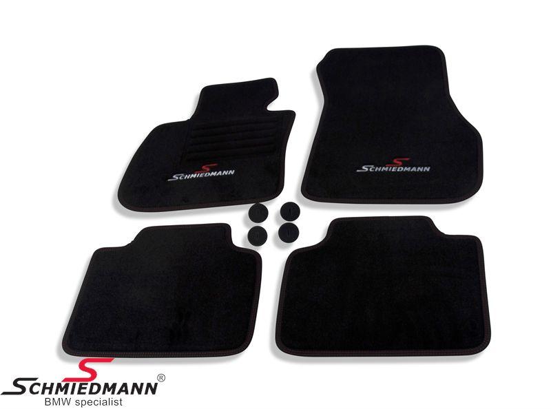 Fussmatten vorne / hinten original Schmiedmann -Sport EVO- schwarz
