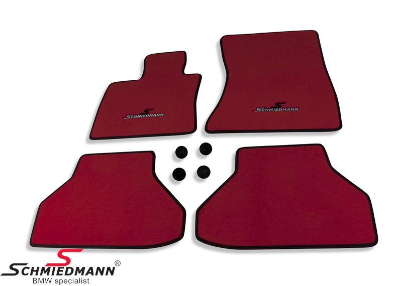Bundmåtter for/bag original Schmiedmann -Sport EVO Red- rød