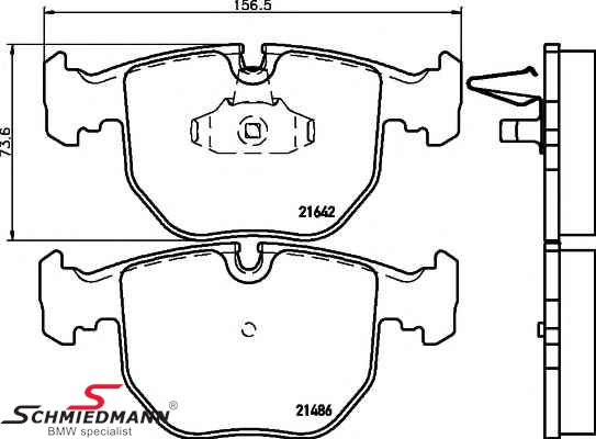 Bremseklodser for, original Hella-Pagid
