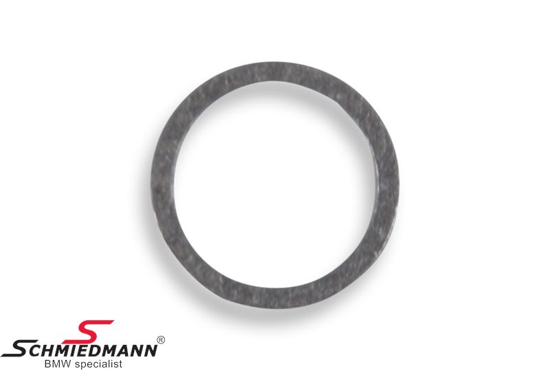 Gasket ring for coolant drain plug in engine block A14X18-AL
