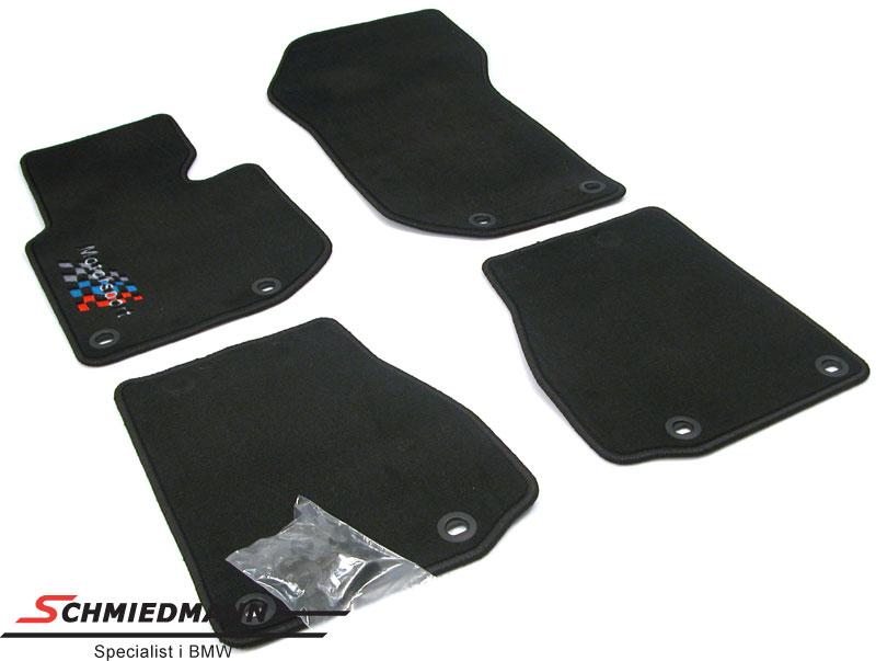 Bunnmatter foran/bak sorte med -Motorsport- logo