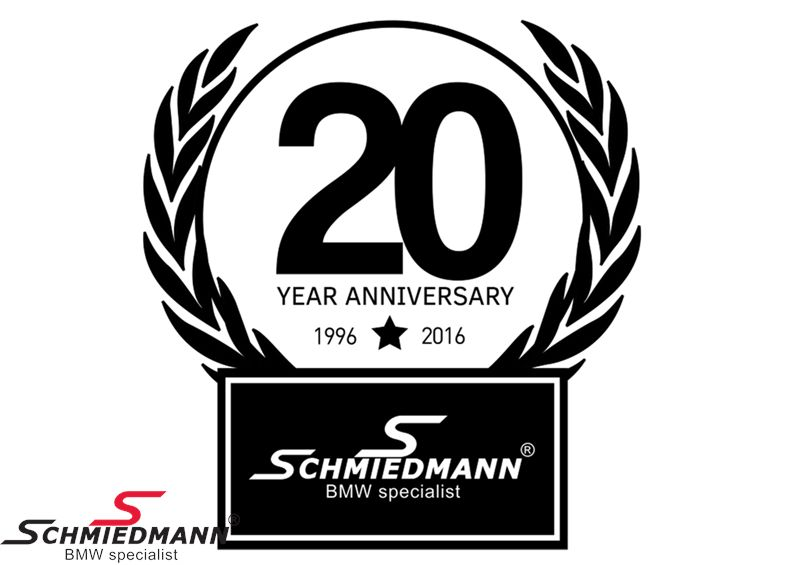 Schmiedmann sticker sort -20 YEAR ANNIVERSARY- højde 80MM