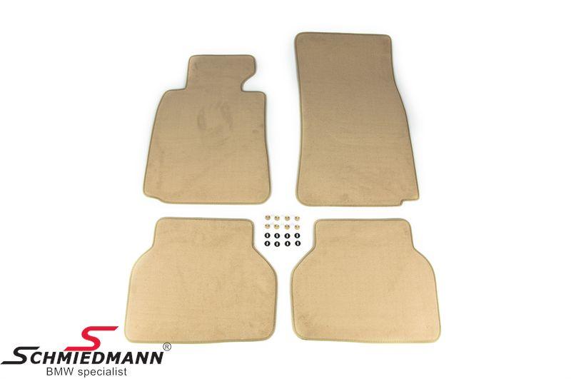 """Fussmatten """"Velours"""" (BMW luxus) vorne/hinten original BMW Sand beige"""