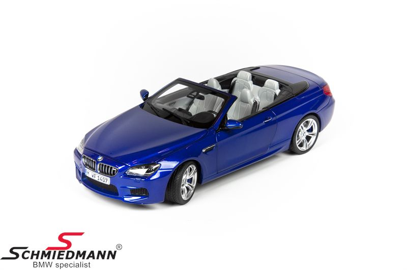 BMW miniature -BMW F12 6 series- San Marino Blue scale 1:18