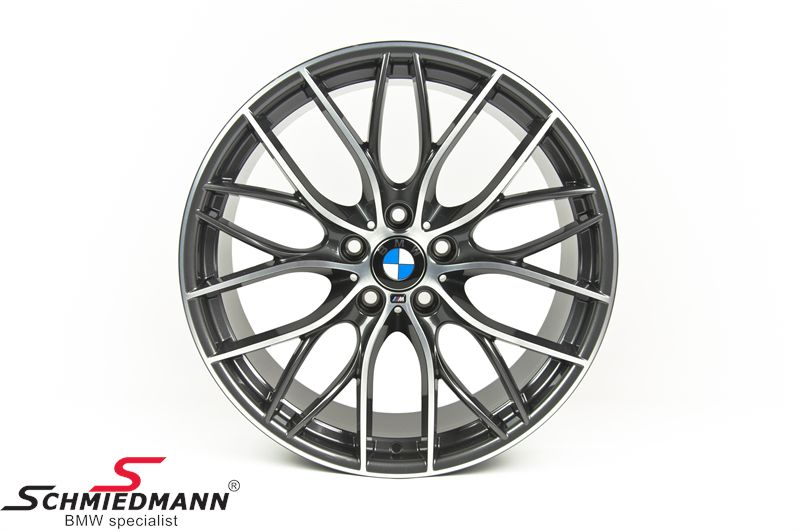 "20"" M-Doppelspeiche 405 Glanzgedreht, rim 8,5X20 ET47 (original BMW fits only rear)"