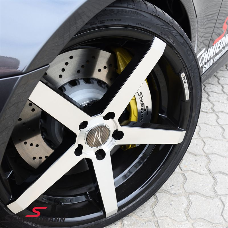 "Schmiedmann -S-Tech.- big brake kit front 400X36MM 6 pot yellow calipers (Please note: does not have any public street approval, and you need min. 20"" rims and a 20-30 spacer set for each side)"