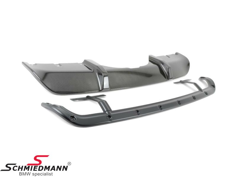 Rear diffuser carbon -BMW ///M-Performance- for M-Technic rearskirt/M-Aerodynamic rear bumper