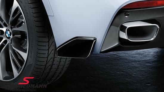 Rear skirt spoiler flap carbon -BMW ///M-Performance- for M-Technic rearskirt/M-Aerodynamic rear bumper L.-side