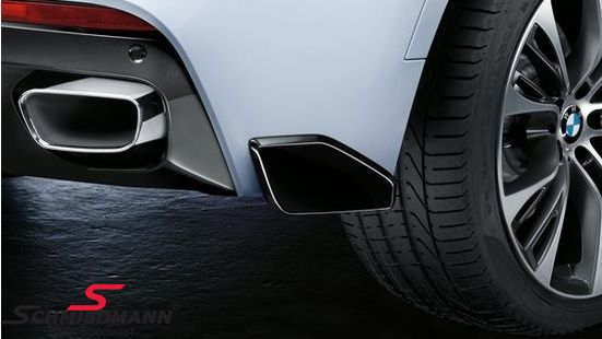 Rear skirt spoiler flap carbon -BMW ///M-Performance- for M-Technic rearskirt/M-Aerodynamic rear bumper R.-side