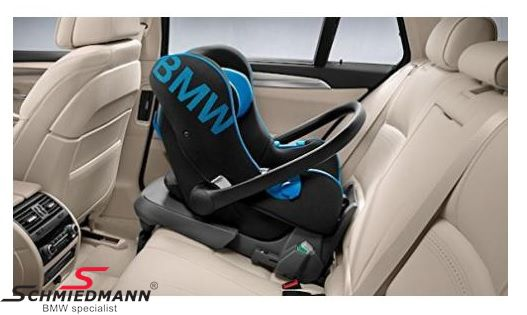 Child seat original BMW black/blue, 0-13kg. (can be used with Isofix base 82-22-2-348-233, must be bought separately)