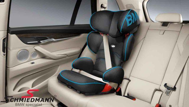 Barnestol original BMW -Junior Seat 2/3- sort/blå, 15-36kg. (kan benyttes med og uden Isofix)