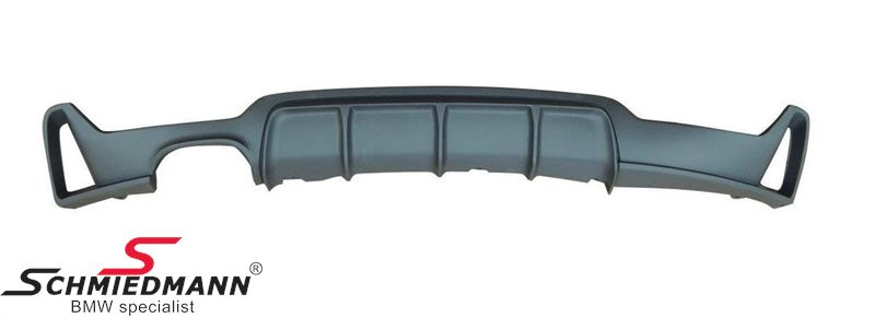Rear diffuser matt black -BMW ///M-Performance- for M-Technic rear skirt/M-Aerodynamic rear bumper