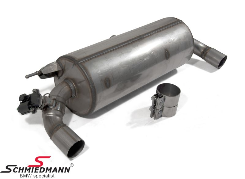 Sport rear silencer stainless steel original BMW -///M-Performance-