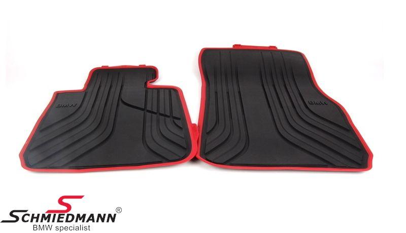 """Fußmatten -Sport- vorne """"Allwetter"""", schwarz/rot - original BMW"""