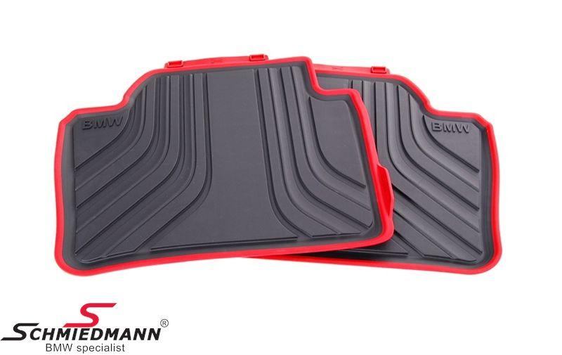 """Fußmatten -Sport- hinten """"Allwetter"""", schwarz/rot - original BMW"""