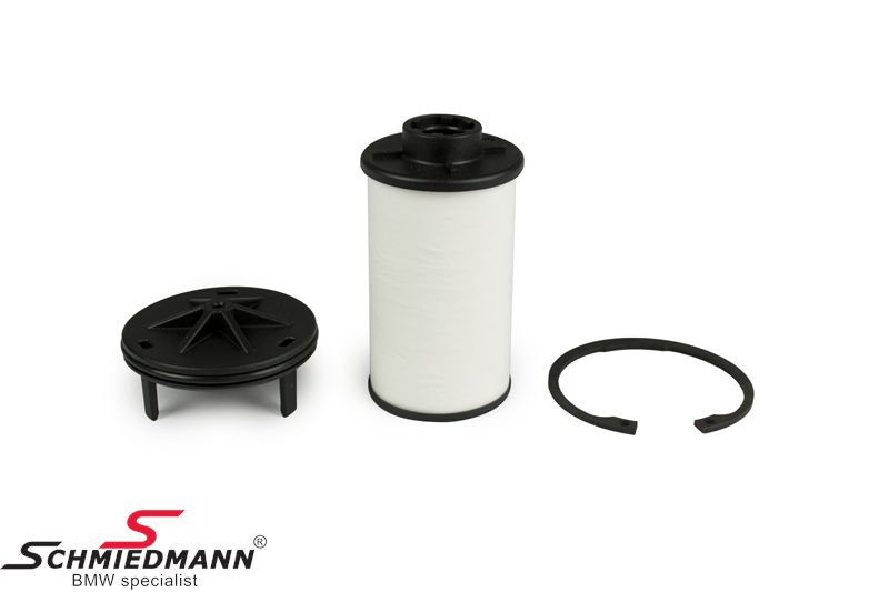 Oliefilter til automatgearkasse, rund type der sidder i siden af gearkassen.