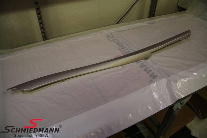 Dekorlist mittkonsol satin-silber matt, Höger - BMW Original