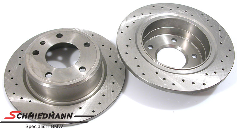 Racing brake discs rear set 282X12MM solid with holes Zimmermann