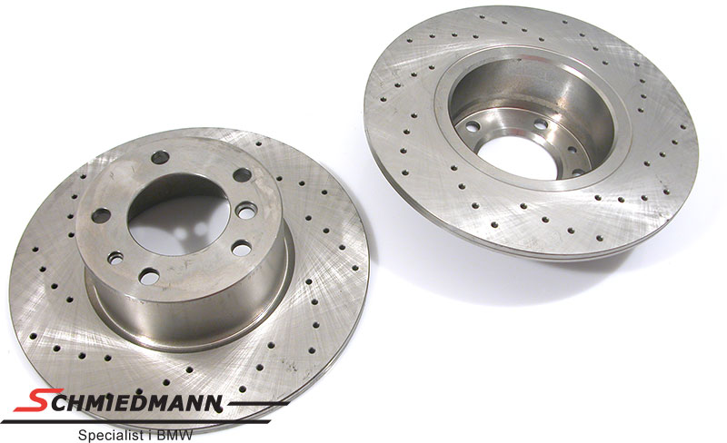 Racing brake discs front set 302X12MM solid with holes Zimmermann