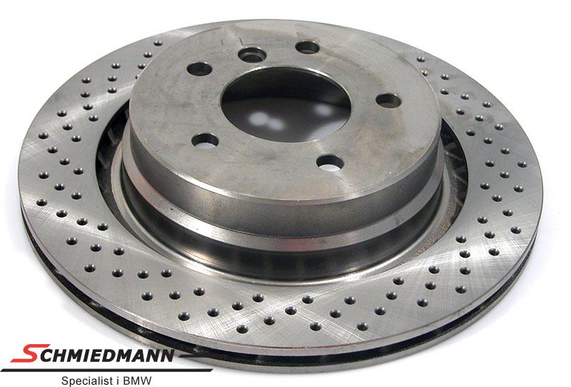 Racing brake disc rear 312X20MM jäähdytetty with holes Zimmermann L.-side