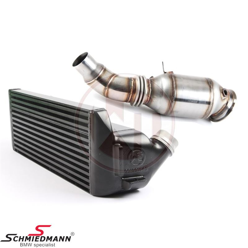 Wagner Tuning Germany Performance-Package EVO1 for N20 engines, consists of a highflow downpipe with 200cells catalyst + an upgrade intercooler